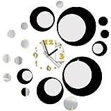 Reloj Pared Moderno Diseño Circulos Movimiento Cuarzo Reloj Pared Silencioso Adhesivo