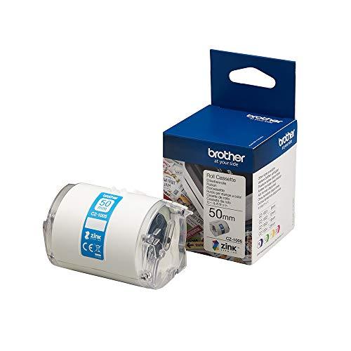 Brother CZ-1005 Farbetikettenrolle, 50 mm breit, 5 m lang für Etikettendrucker VC-500W