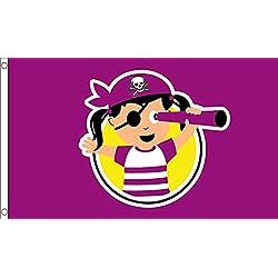 Bandera pirata para fiesta, 12,7x7,62 cm.