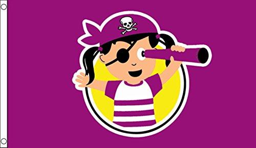 Little Pirat Prinzessin Kinder Geburtstag Party Banner 5'x3' Flagge