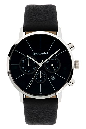 Gigandet G32-002 Men's Watch with Black Leather Strap