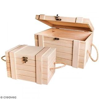 Rayher 62651000coffres en bois FSC de crédit marron poids€¯: 3 02x 2.12x 1 8cm