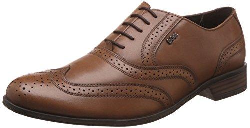 Lee Cooper Men's Tan Leather Formal Shoes - 10 UK/India (44 EU)