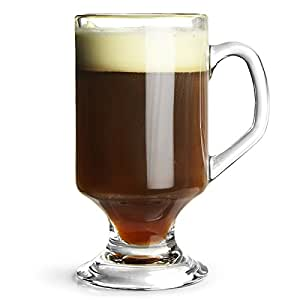 Irish Coffee Glasses 10.2oz / 290ml - Set of 4 | Heat Resistant Glassware