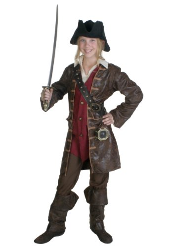 Teen Girls Caribbean Pirate Fancy dress costume Teen