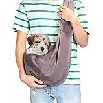 41SFAJkB-LL._SS150_ AGPTEK Ownpets Hundetransporttasche Unterstüzung von 8kg bis zu 10kg Hundetragetuch Single Schulter Sling Bag für Haustier Hund Katze