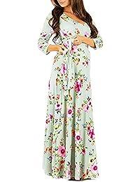 Lenfesh_Vestidos Vestido de Maternidad, Maternidad Lactancia Floral EstampadoVestido Mujeres Embarazadas Otoño Invierno Vestido de Manga