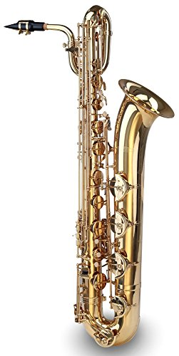 Classic Cantabile BS-450 Baritonsaxophon (Es-Stimmung, inkl. Mundstück, Koffer/Gigbag, Gurt, Zubehör) Messing lackiert