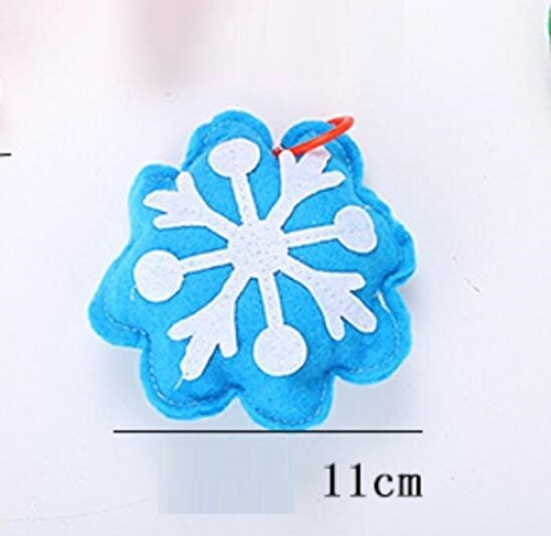 Huihuger Durable Blue Catnip Pack Snowflake Form Pet Katze Chew Formation Scratch Spielzeug