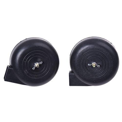 compresor de aire - TOOGOO(R) De repuesto 3/8 PT rosca macho filtro compresor de aire Silencer 2 piezas negro