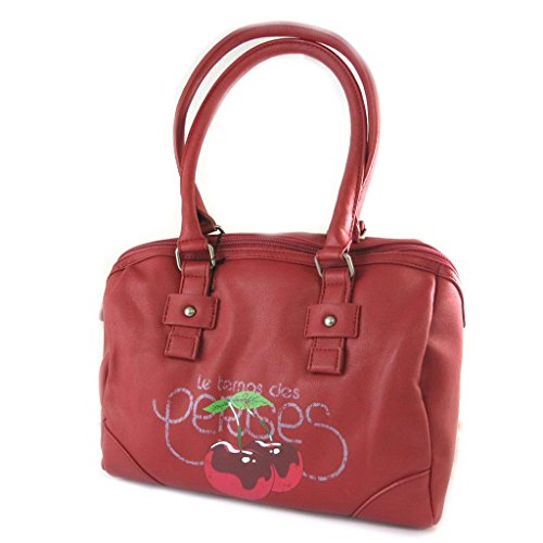 Bag designer 'Le Temps Des Cerises'rosso - 30x22x18 cm.