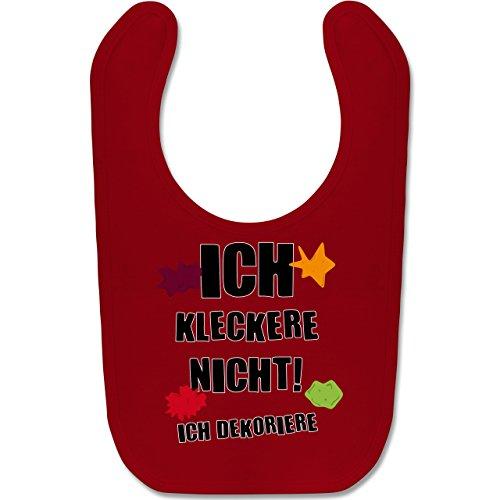 Shirtracer Sprüche Baby - Ich kleckere nicht! - Unisize - Rot - BZ12 - Baby Lätzchen Baumwolle -
