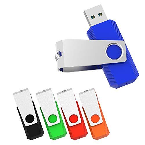 3-pack-usb-flash - (RAOYI 5er Pack 16 GB USB 3.0-Flash-Laufwerk Memory Stick Thumb Drives Zip-Laufwerk Jumpdrive (Schwarz, Grün, Rot, Blau, Orange))