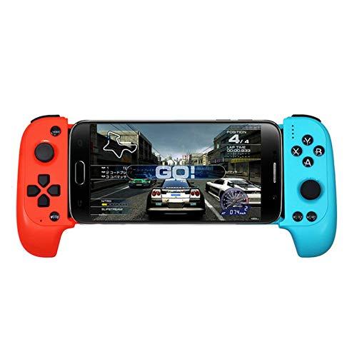 LanLan Elektronischer Spiele-Controller und Zubehör, kabellos, Bluetooth, für Samsung Xiaomi Huawei Telefon, Android PC Red Blue