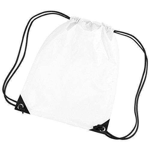 BagBase BG10BagBase Premium Gymsac color blanco