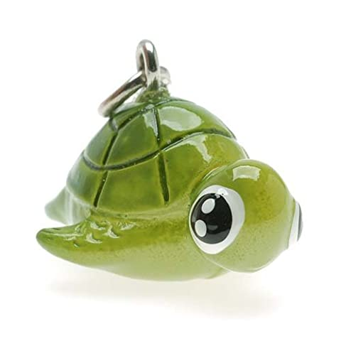 Hand Painted 3-D Honu Sea Turtle Charm 17.5mm Lightweight (1)