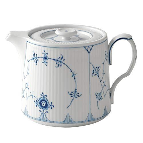 Royal Copenhagen - Musselmalet Gerippt Teekanne 75 cl -