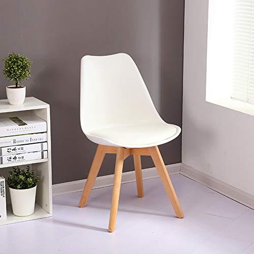L.BAN Esszimmerstühle Esszimmerstuhl Design Stuhl Küchenstuhl Holz, Weiß