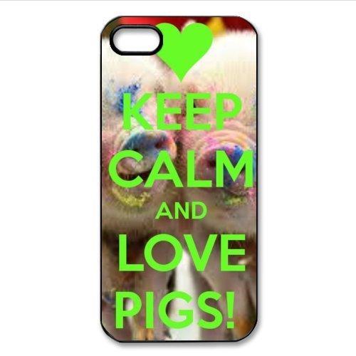 ouucase DIY Lovely conception, Porcinet Bébé Funny Pig Motif Coque pour iPhone 5ou 5S PC cas DIY HD Housse PC Pour New Design