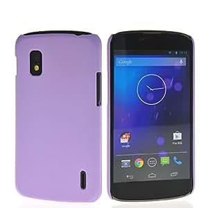 HKCFCASE Coque Etui Case Hard Shell de Protection Housse Coque Etui Cover Pour Google LG Nexus 4 E960 Voilet