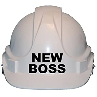 New Boss Children, Kids Genuine Hard Hat Safety Helmet With Chin Strap One Size Adjustable Suitable for 2-12 Years White Complies With EN397 Safety Standard by Acce Products