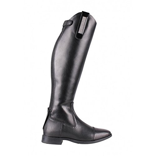 QHP Stiefel-Clip Beyonce (Lack)Leder-Clip mit Strass zum Aufpeppen Ihrer Stiefel 'Pimp Ihre Stiefel' schwarz/blau