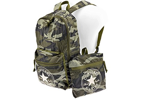 Converse Backpack Ct Packable Graphic, Zaino, Unisex Adulto, Verde Mimetico, 43x28x18