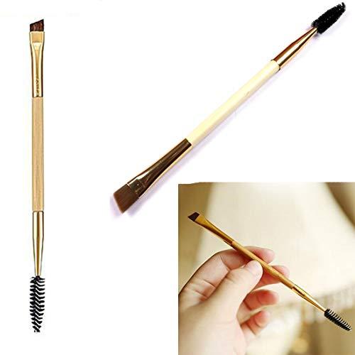 Outils de maquillage Poignée en bambou Brosse à sourcils double et peigne à sourcils pour femmes Beauté
