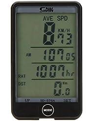 Docooler Kabelgebundene Bike Fahrrad Radfahren Computer Kilometerz?hler Tachometer Touch Button LCD-Hintergrundbeleuchtung Hintergrundbeleuchtung wasserdicht Multifunktion
