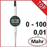 Digital Mahr Messuhr 1086R 100 mm MarCator 4337133 Ablesung: 0,01 mm Datenausgang: Ja, Gewicht: 0.27
