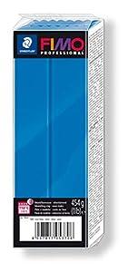 Staedtler 8041-300. Pasta para modelar Fimo Professional. Caja con 1 Pastilla de Color Azul de 454 Gramos.