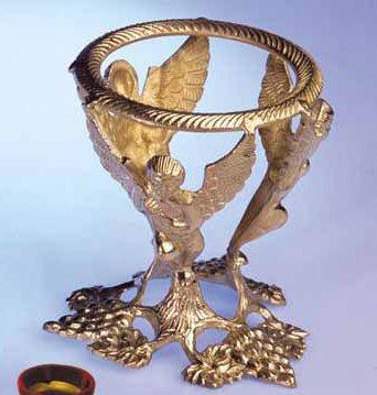Cristal de Roche Boule Support Ange, laiton