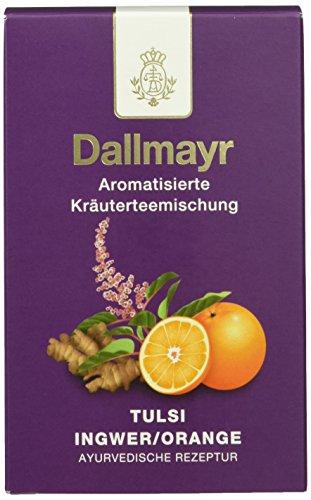 Dallmayr Ayurvedischer Tee Tulsi Ingwer/Orange, 2er Pack (2 x 100 g)