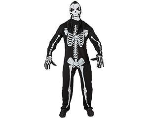 Atosa-96742 Disfraz Esqueleto, color negro, XS-S (96742)