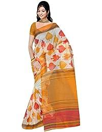 Vastrang Sarees Women's Net Saree With Blouse Piece (7K93_Multi Colour)
