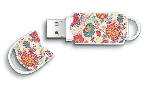 Preisvergleich Produktbild Integral Xpression 8GB USB-Stick mit Blumen Motiv bunt