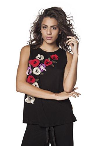 Mamatayoe Corus, Camiseta sin Mangas para Mujer, Negro, M