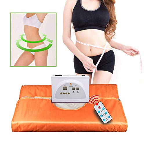 MZBZYU Far Infrared (FIR) Sauna Decke Khan-Dampf-Decke Body Shaper Abnehmen Fitness Sweat für Entgiftung Anti Aging Beauty(mit Fernbedienung)