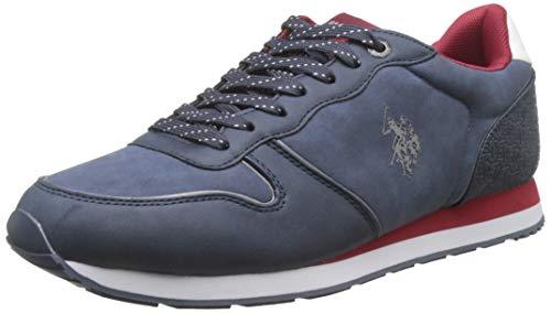 U.S. Polo Assn. SOREN1 Club, Sneaker Uomo, (Blu/BOR 030), 44 EU