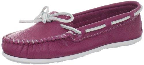 Minnetonka Boat Moc 613S, Mocassini donna Rosa (Pink (Fuchsia))