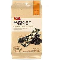 Dong Won Dongwon Laver crujiente Almendra merienda 20g x Comida 12 Corea pequeña Negro