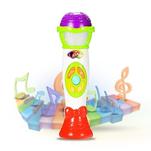 ThinkMax Juguete Micrófono Karaoke, Cambio De Voz Y Grabación De Micrófono, Juguete Educativo Temprano En Música Para Niños (Verde)