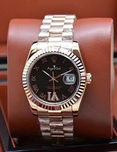 ZCCZJBXS Luxury Men Automatic Mechanical Datejust Stainless Steel Sapphire Rose Gold Black Classic Diamonds Shell Grey Watches 11