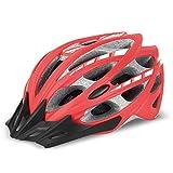 YxlAB Helm, Leichte Kopfschutz Fahrradhelm Rennrad Radfahren Schutzhelm Herren Damen Visier (Farbe : B)