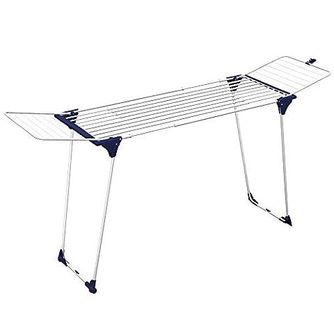 Gimi Dinamik 30 Étendoir à poser sur le sol, extensible, en acier, 27 m d