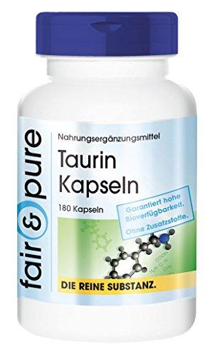 Taurina 650mg - sostanza pura - privo di eccipienti ed additivi - 180 capsule
