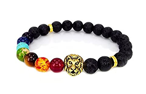 7 Colour Agate Energy Bracelet The Volcanic Beads Bracelet - The Male Lion by Dream Alice