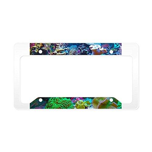 CafePress-Schöne Coral Reef-Aluminium Nummernschild Rahmen, Lizenz Tag Halter -