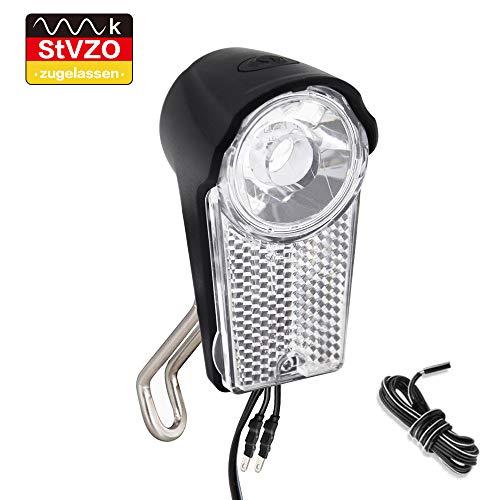 LIFEBEE LED Scheinwerfer Frontscheinwerfer, StVZO zugelassen Fahrradlicht Vorne mit Schalter, IPX-5 wasserdicht Fahrradlampe Fahrradbeleuchtung, 6V-48V Licht für Fahrrad
