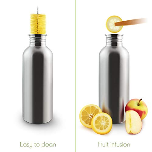 Drinking bottle made of stainless steel
